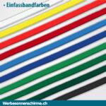 Sonnenschirm Einfassbandfarben