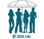 Sonnenschirm bedruckt für Werbung Schirmmacher Schattenspender Druck Druckerei Textil