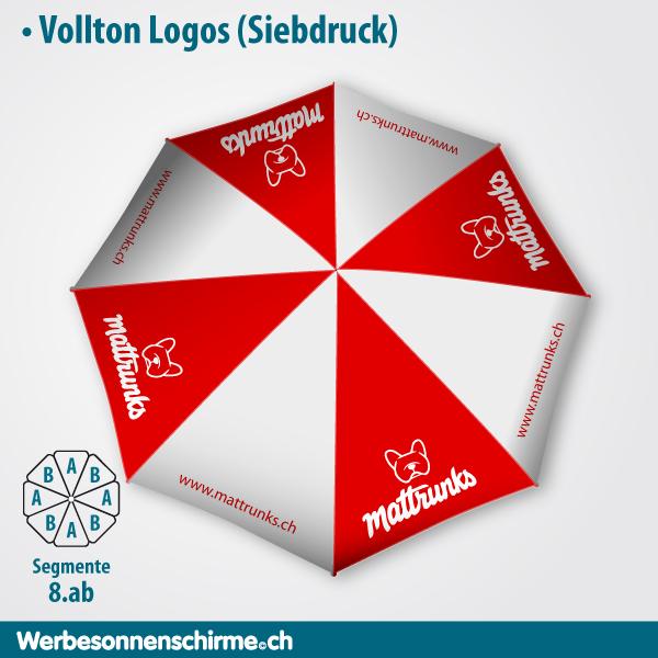 Werbeschirm Sonnenschirm Druck Druckerei Schweiz