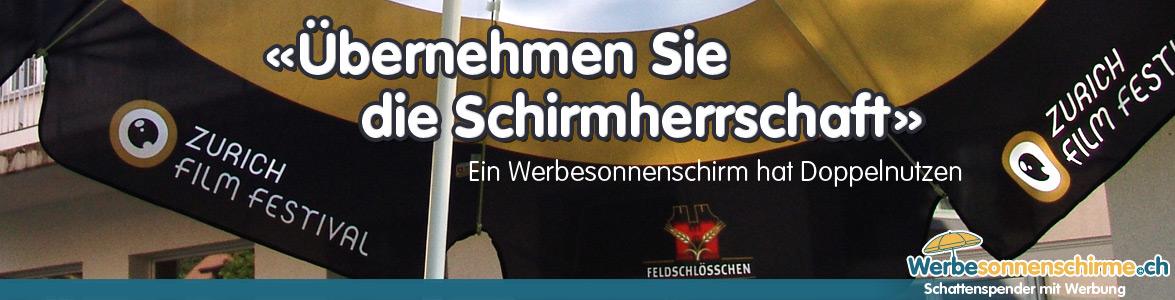 Werbeschirme mit Druck bei Werbesonnenschirme.ch bestellen in der Schweiz