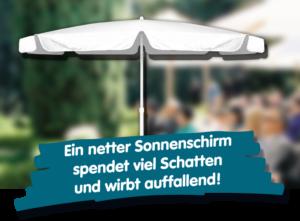 Sonnenschirm Werbung mit bedruckten Sonnenschirmen von Werbesonnenschirme.ch